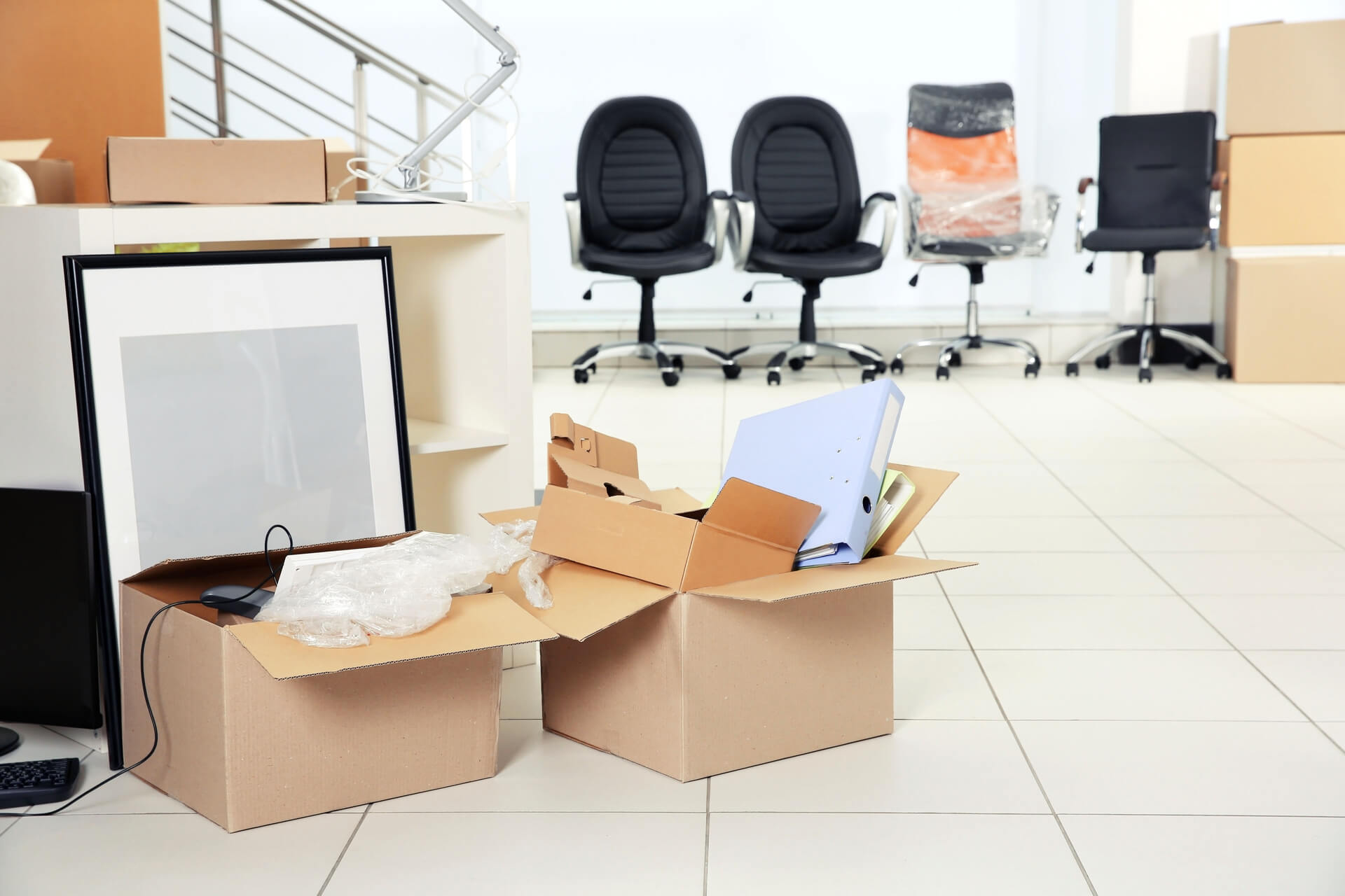 Commercial Movers In Dallas Packed Up Office